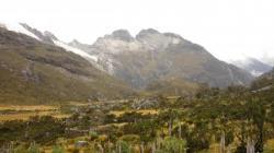 Vista sobre los nevados- parque Huascaran