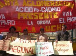 Obreros en paro - La Oroya