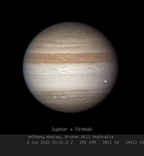 Impact sur Jupiter le 3 Juin 2010