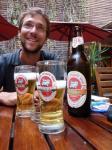 L'effet THB, bière locale, au Sakamanga
