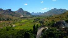 Vue sur la vallée depuis la réserve de l'Anja