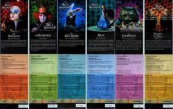 Flyers malaisiens Alice au Pays des Merveilles
