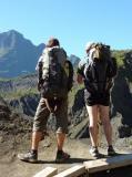 Les randonneurs Jollivet admirent le paysage