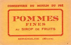 Etiquettes officielles des fruits au sirop de la Conserverie