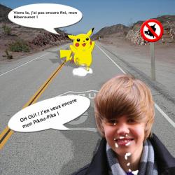 Justin Bie*** et Pikachu faisant des choses étranges....