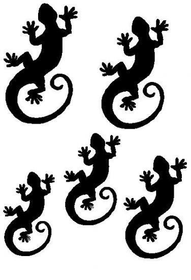pochoir 5 salamandres. Black Bedroom Furniture Sets. Home Design Ideas