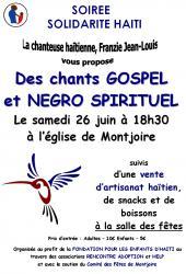 Soirée Gospel en soutien à Haïti