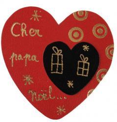 coeur rouge avec marque à chaud et dorure à chaud