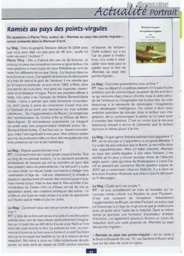 «Ramsès au pays des points-virgules» par Pierre Thiry
