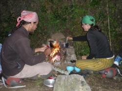 Georges y Anastasia cocinando