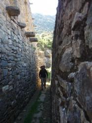 Jugando en las ruinas del Choquequirao