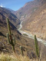 Vista sobre el canyon partiendo del Choquequirao
