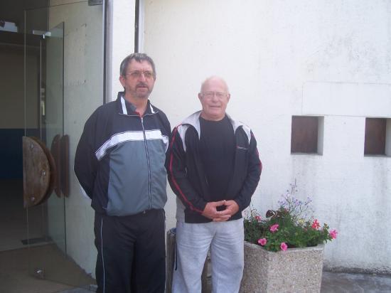 Sur la photo de gauche à droite : Michel YOU et  Bernard GARREAU