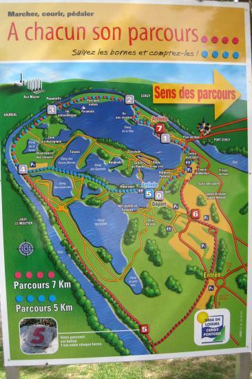 Plan de la Base de Loisirs à Cergy