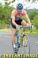 Fabrice au triathlon des corsaires 2010