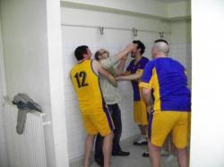 l'entraîneur a eu droit à la douche