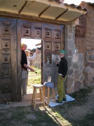 Trabajando en el ashram - Cusco