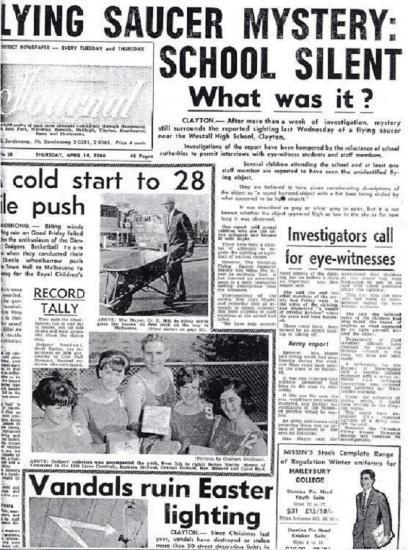 1966 UFO Aussie ovni
