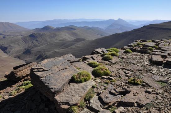 Les grands espaces sur les crêtes entre tizi n'Tighboula et tizi n'Igourane
