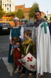 La famille Gronier en costume d'apparat